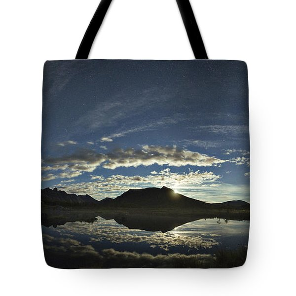 Night Sky Panorama Tote Bag