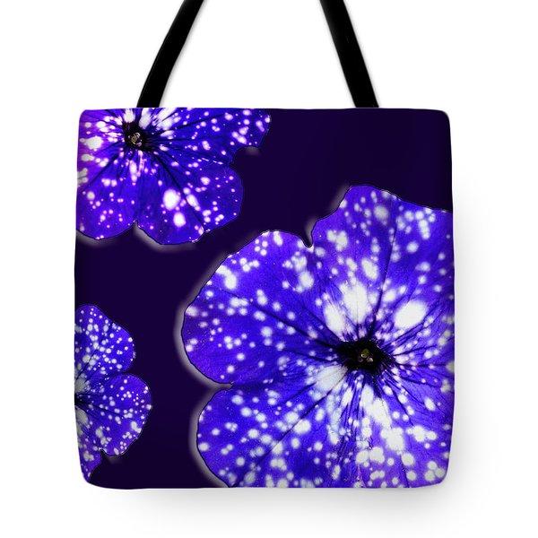 Night Sky Petunias Tote Bag by Tara Hutton