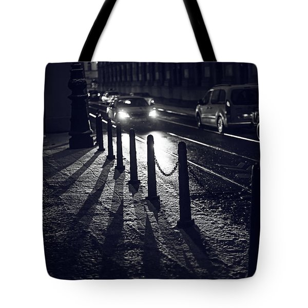 Tote Bag featuring the photograph Night Street Of Prague by Jenny Rainbow