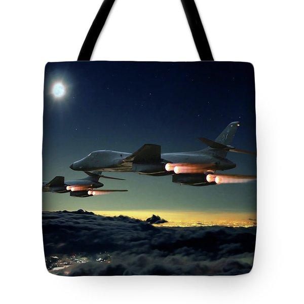 Night Strike  Tote Bag