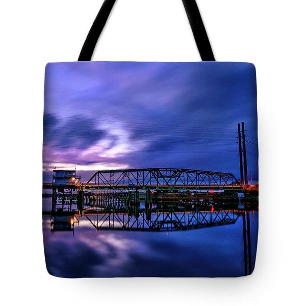 Night Swing Bridge Tote Bag