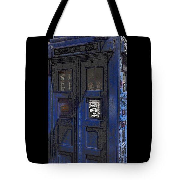 Night Tardis Tote Bag by Rhonda Chase