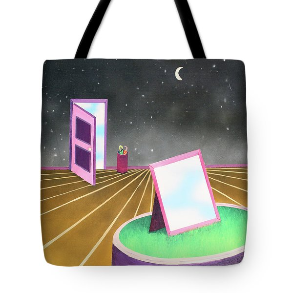 Tote Bag featuring the painting Night by Thomas Blood