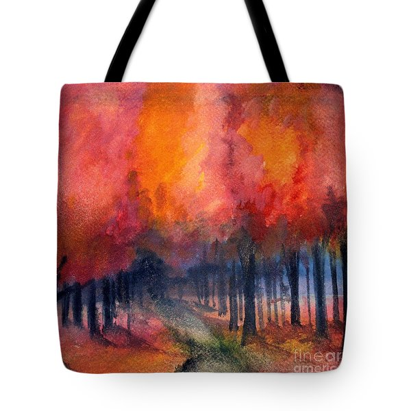 Night Time Among The Maples Tote Bag