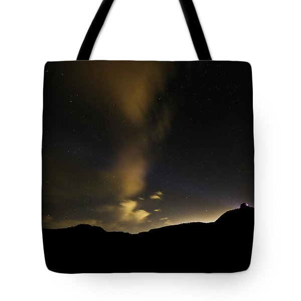 Night Time At Palo Duro Canyon State Park - Texas Tote Bag