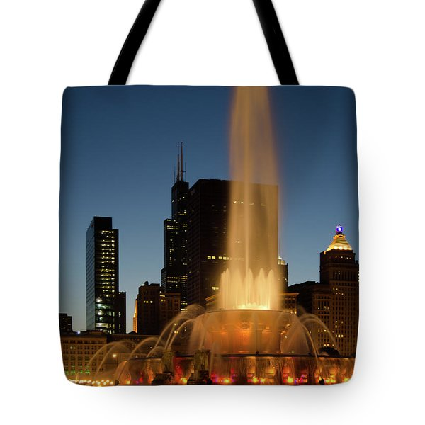Night Time Fountain Tote Bag