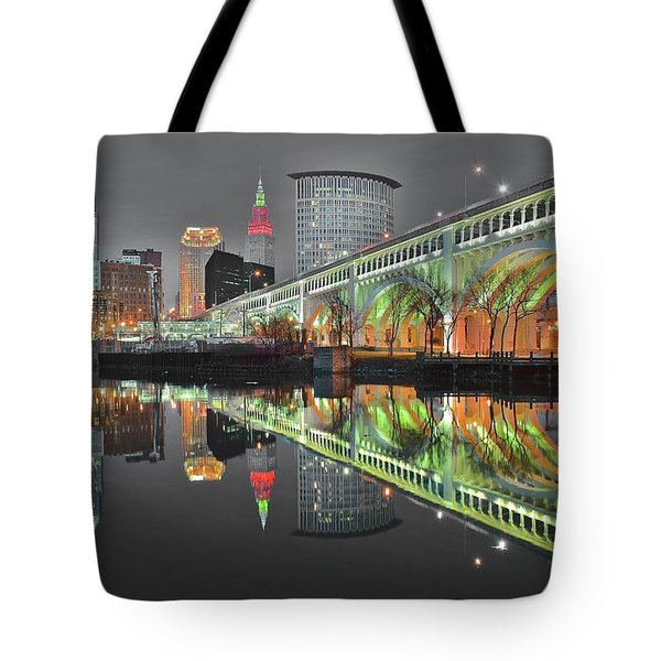 Tote Bag featuring the photograph Night Time Glow by Frozen in Time Fine Art Photography
