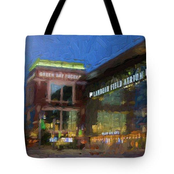 Night Time Lambeau Tote Bag