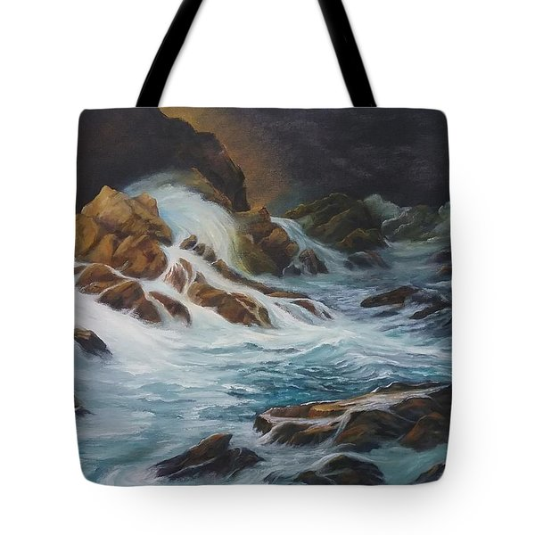 Night Time Sea Tote Bag