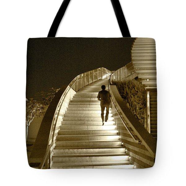Night Time Stairway Tote Bag by Ben and Raisa Gertsberg