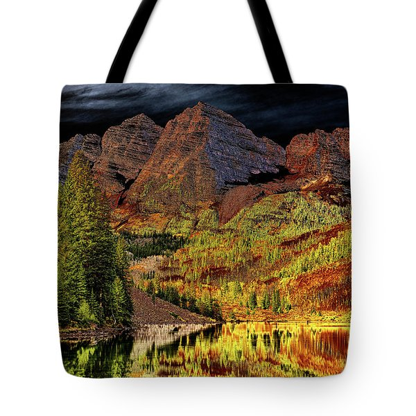 Night Trees #3 Tote Bag