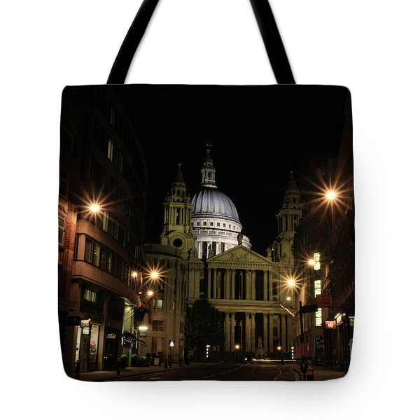 Night View Of St Pauls Cathedral  Tote Bag
