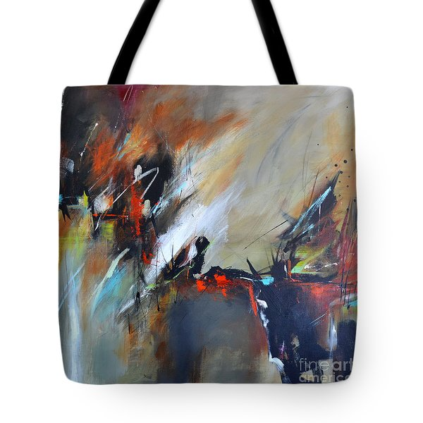 Tote Bag featuring the painting Night Vision by Cher Devereaux