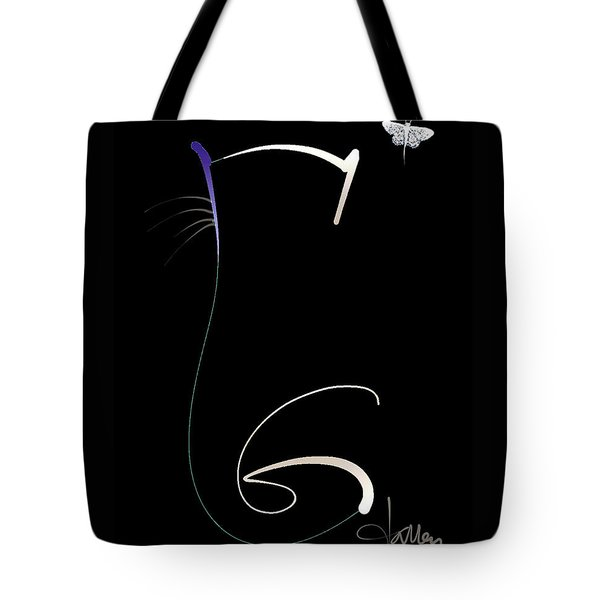 Tote Bag featuring the mixed media Moonlight Rendezvous by Larry Talley