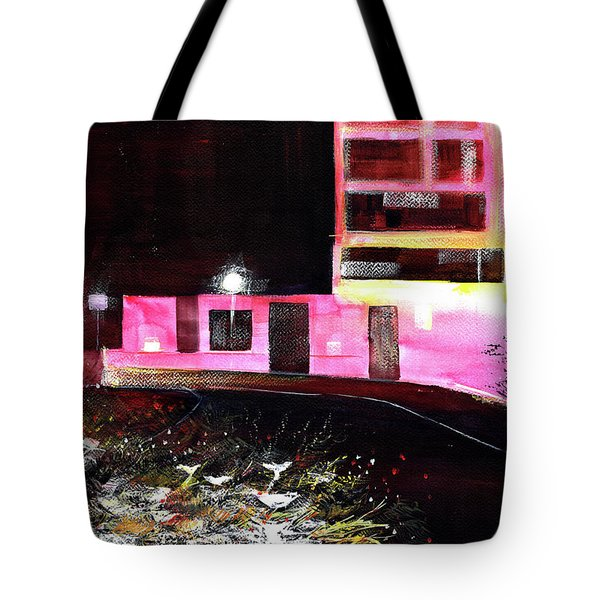 Tote Bag featuring the painting Night Walk by Anil Nene