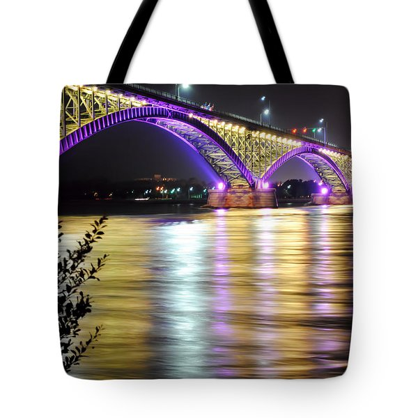 Night Walk On The Break Wall Tote Bag