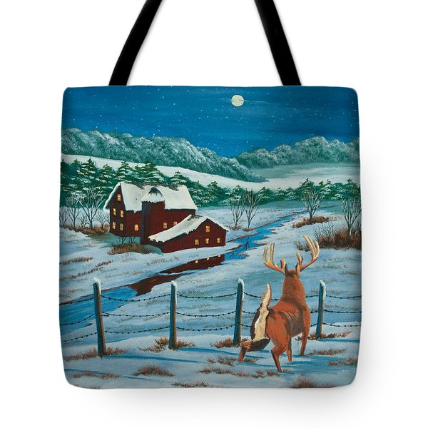 Night Watch Tote Bag by Charlotte Blanchard