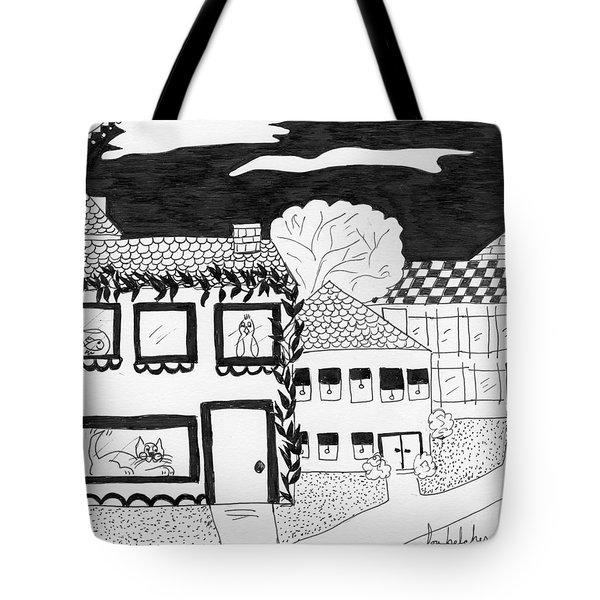 Tote Bag featuring the painting Night Watch by Lou Belcher