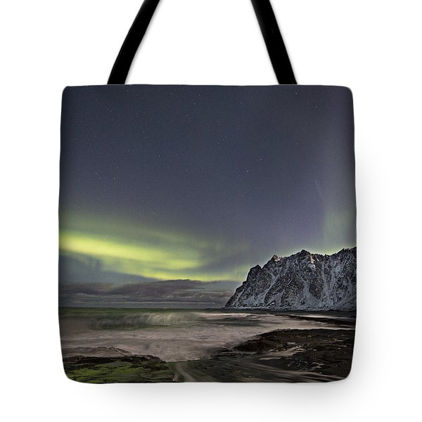 Night Waves Tote Bag