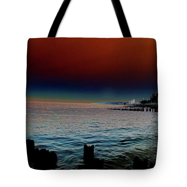 Night Winds And Waves Tote Bag
