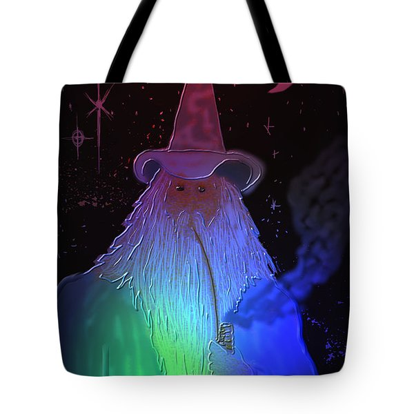 Tote Bag featuring the painting Night Wizard by Kevin Caudill