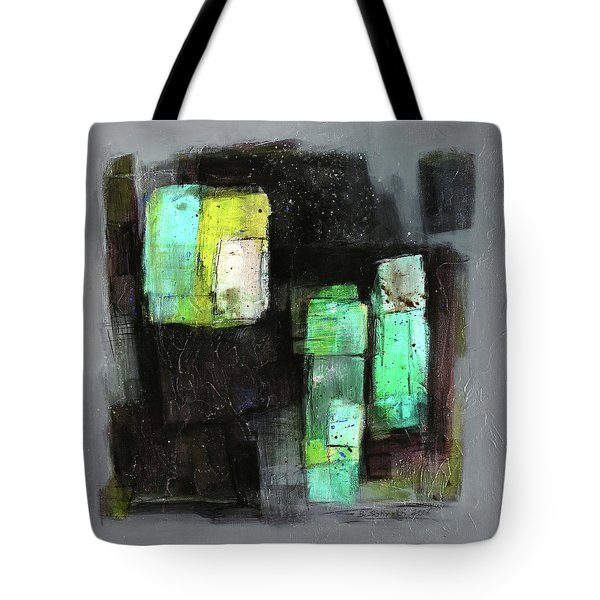 Texture Of Night Painting Tote Bag by Behzad Sohrabi