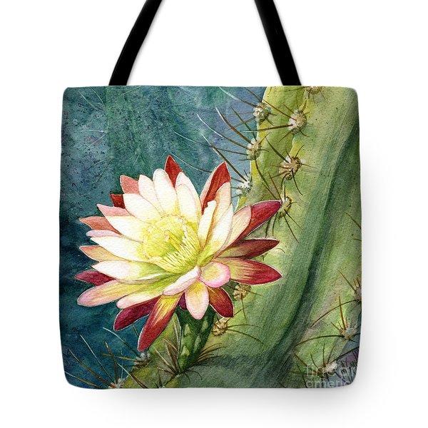 Nightblooming Cereus Cactus Tote Bag