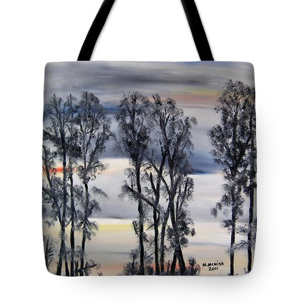 Nightfall Approaching Tote Bag by Marilyn  McNish