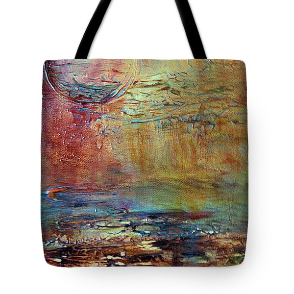 Tote Bag featuring the painting Nightfall by Diana Bursztein