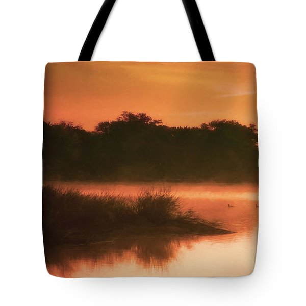 Nightfall Ducks Tote Bag
