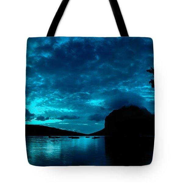 Nightfall In Mauritius Tote Bag