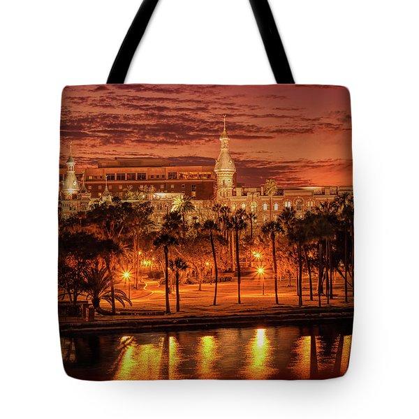 Nightfall In Tampa Tote Bag
