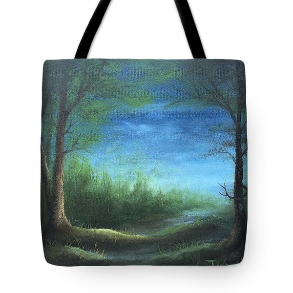 Nightfall In The Boggs  Tote Bag