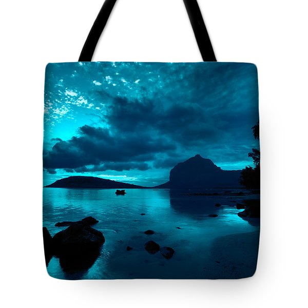 Nightfall Near Le Morne Tote Bag