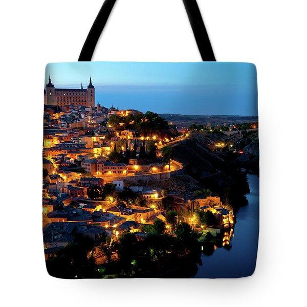 Nightfall Over Toledo Tote Bag