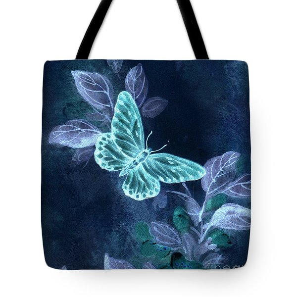 Nightglow Butterfly Tote Bag