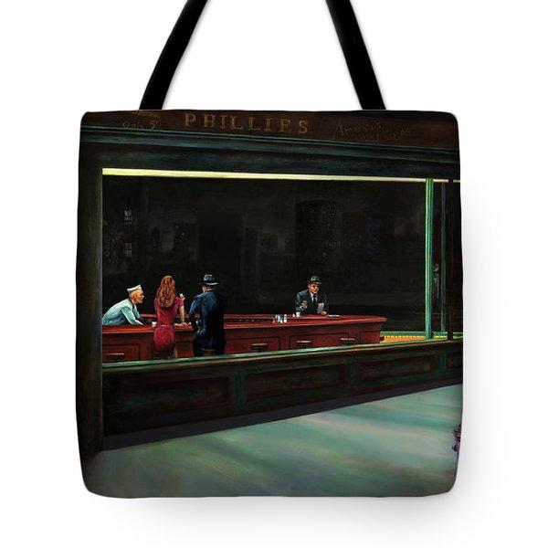 Nighthawks Tote Bag by Antonio Ortiz