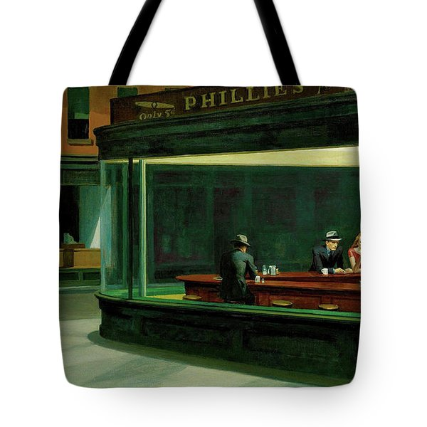 Nighthawks Tote Bag by Sean McDunn