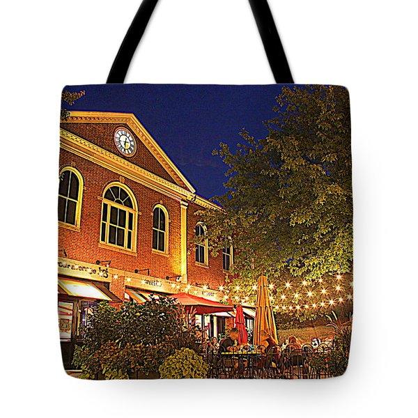 Nightime In Newburyport Tote Bag