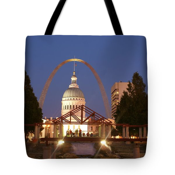 Nighttime At The Arch Tote Bag by Marty Koch