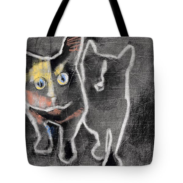 Nighttime Cats Tote Bag by Julie Maas