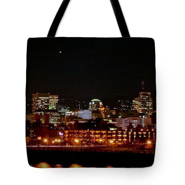 Nighttime In Pdx Tote Bag