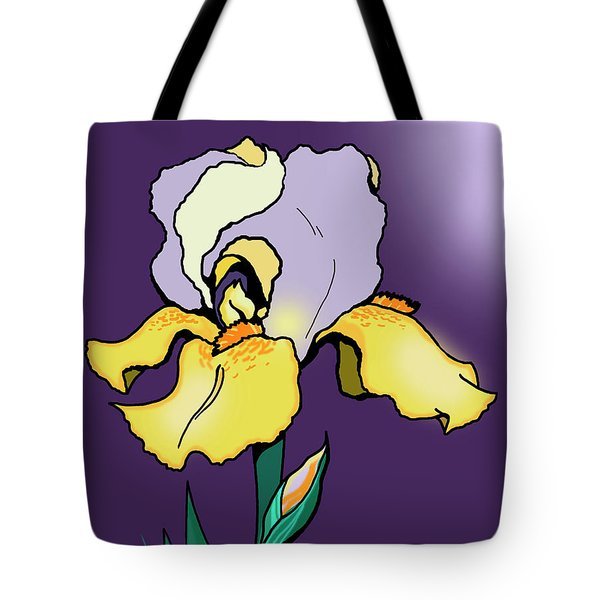 Nighttime Iris Tote Bag