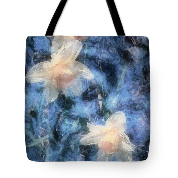 Nighttime Narcissus Tote Bag by RC deWinter