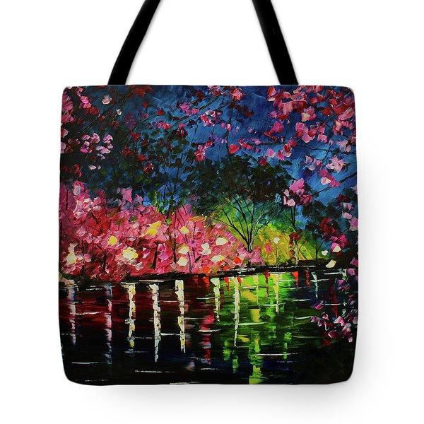 Nighttime Pink Tote Bag