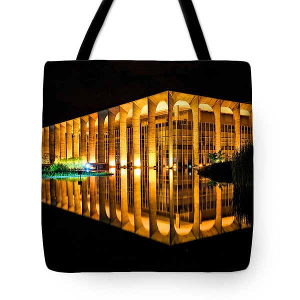 Tote Bag featuring the photograph Nighttime Reflections by Kim Wilson