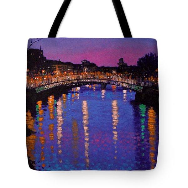 Nighttown Ha Penny Bridge Dublin Tote Bag