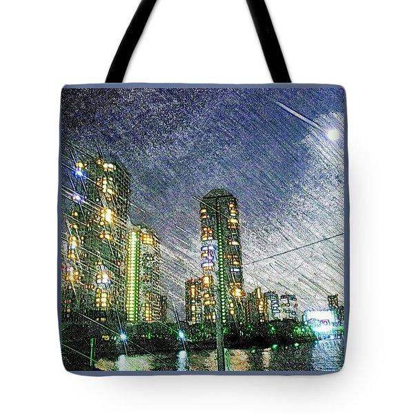 Tokyo River Tote Bag by Daisuke Kondo