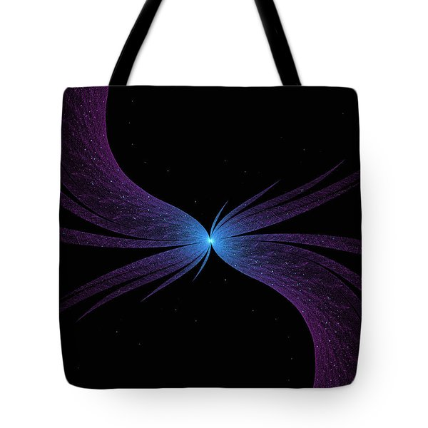 Tote Bag featuring the digital art Nightwing by Lea Wiggins