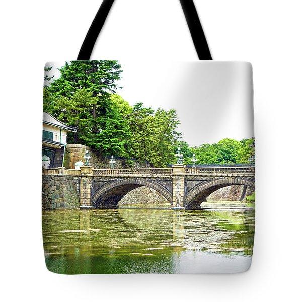 Nijubashi Bridge Tote Bag